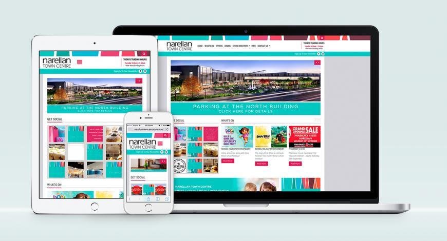 Narellan Town Centre Responsive Website