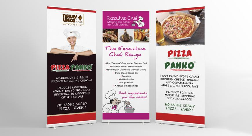 Newly Weds Food Pull Up Banners