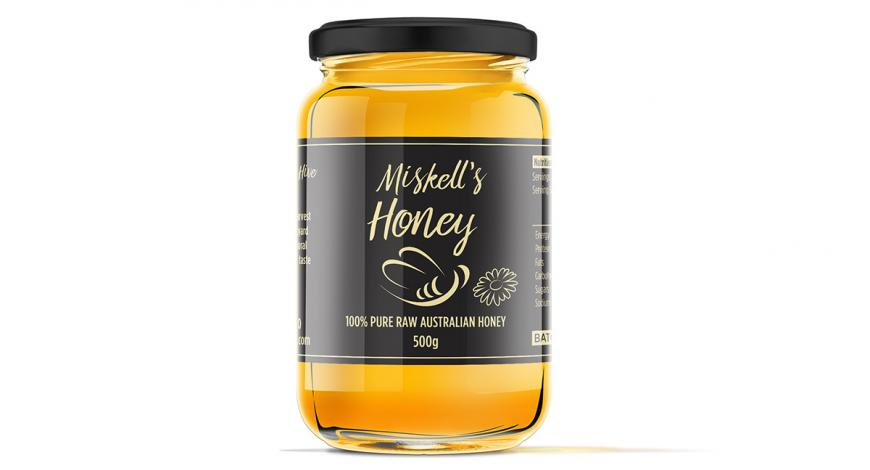 Honey Label Design with Tamper Evident